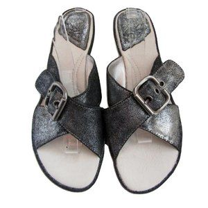 Hush Puppies Black Suede Silver Glitter Shoes 8.5M